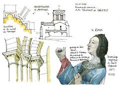 Montpellier de Mdilan, Rioux (gerard michel) Tags: france sketch roman glise dtail croquis poitoucharentes