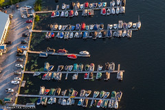 Boats at the Dock (Samantha Decker) Tags: ny newyork boats upstate saratogasprings aerial helicopter fishcreek canonef24105mmf4lisusm saratogalake canoneos6d samanthadecker