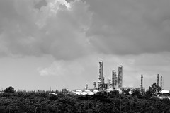 Distillation of petroleum (Suratn) Tags: petroleum factory plant abstract black white industrial estate rayong thailand