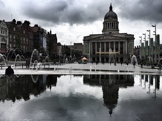 Before the Storm. Nottingham Market Square.