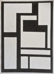 Blocks (ElDel777) Tags: blackandwhite white abstract black moleskine atc modernart sketchbook blocks inkdrawing rectangles