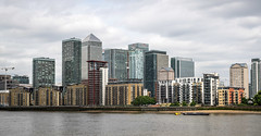 Towers of London | Canary Wharf (James_Beard) Tags: london thames docklands canarywharf offices londonskyline isleofdogs londonlandmarks londonarchitecture fujixf35mm fujixe2