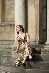 On the steps (cowboy72) Tags: fashion gold ruins columns steps wetherby canon135f2l deannamodel removedfromstrobistpool incompletestrobistinfo seerule2 godoxad600