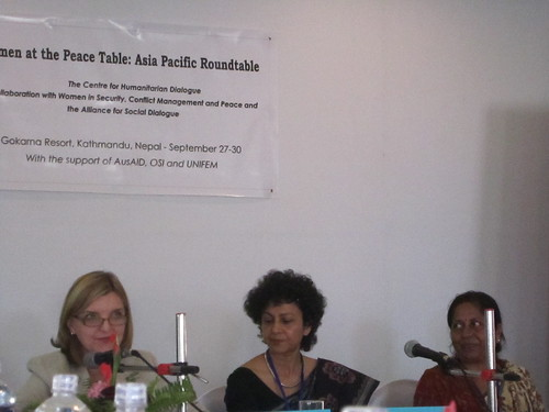 Women at the Peace Table meeting in Kathmandu, Nepal in Sepetmber 2010