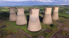 Willington Cooling Towers (Sam Tait) Tags: dji phantom 3 standard uav drone quadcopter willington power station derbyshire cooling towers chimney industrial industry decay coal fired moth balled ariel sky landscape derelict abandoned