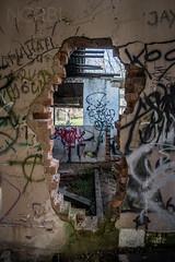 (JugglerNorbi) Tags: house brick abandoned graffiti decay australia urbanexploration destroyed albury urbex wodonga