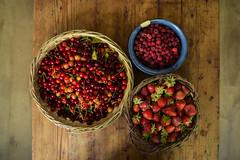 The harvest (Nico Caramella) Tags: frutas fruits dinner yummy cherries yum flat sweet strawberries foodporn raspberries lay cerezas foodgasm frutillas frambuesas foodpics flatlay