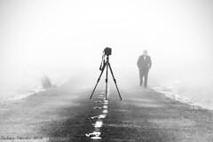 IMG_8179 (padraig thornton) Tags: road street camera ireland man fog canon blackwhite outdoor tripod ngc line 7d thornton 70200mm padraig manorhamilton greatphotographers coleitrim carseyes