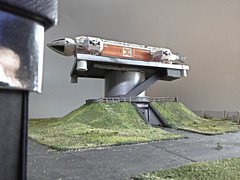 Fylefield Defence Operations Base, Britain. (ManOfYorkshire) Tags: space1999 ufo gerryanderson landing pad base station operations britain fylefield emergency test diorama 176 scale model oogauge eagle transporter minimum space tricky controlled product enterprise diecast