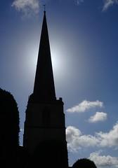 Painswick church (Glyn Heskins) Tags: blue sky cloud sun tower church weather gloucestershire steeple rise vane stroud painswick