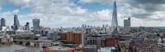 Epic London (Sean Batten) Tags: city england urban panorama london skyline nikon cityscape unitedkingdom panoramic tatemodern gb canarywharf 70200 walkietalkie d800 thethames switchhouse theshard thecheesegrater