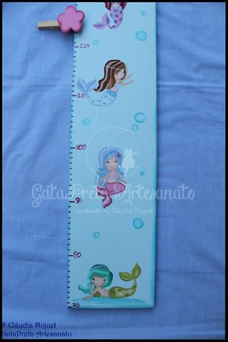 "Régua de crescimento ""Sweetest Mermaids"""