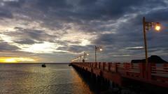 2016-07-01_10-20-20 (BertMacFly) Tags: sunrise panorama landscape boats sea thailand thai beach clouds sky cameraphone waves seascape vacation allaperto mare lgg4 sun