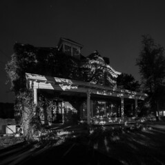 Warden of the North ( estatik ) Tags: county new blackandwhite bw white house black abandoned monochrome shadows nj jersey milford hunterdon oncewashome