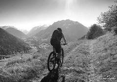 Autumn Riding around Verbier  (99) (Carl and Sian) Tags: orange alps switzerland mtb mountainbiking verbier singletrack orangefive bikeverbier alpinesingletrack carlandsian