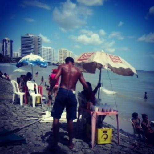 Ponta da Areia Beach. 35 celsius. São Luís/Brazil. Sun all year. Cold never. HalfMarathon. #InstaPanga. #PangaSince1980.