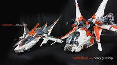 Mercury interceptor & Merkabah gunship (Brick Martil) Tags: lego toy spaceship gunship interceptor ucs merkabah mercury starfighter