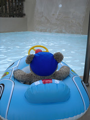 I'm goin' in! (pefkosmad) Tags: bear travel vacation holiday ted cute pool toy hotel vacances boat nice stuffed soft teddy hellas fluffy plush swimmingpool greece inflatable budgie trunks greekislands pefkos griechenland rhodes swimwear smugglers dodecanese finas swimcap pefki pefkoi tedricstudmuffin