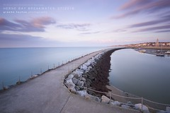 Herne Bay breakwater - before sunset (graemehayhoe3000) Tags: herne bay hernebay breakwater kent harbour seascape