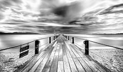 Deep! (mcalma68) Tags: mae nam beach long exposure pier mono monochrome blackwhite depth seascape