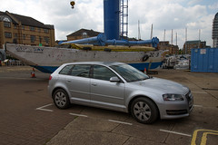 Parking (Baywhale) Tags: crane boatyard doubleyellowlines surreyquays