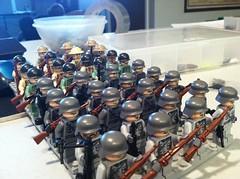 My lego WWII soldiers (legobro77) Tags: army lego wwii ww2 soldiers axis allies brickarms brickmania roaglaan