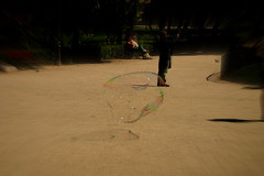 Floating (Gregoire_Venuze) Tags: madrid kids floating blowing solitary enfant transparence bulle bubles