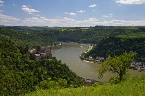 Panorama of the Rhine Valley near the Loreley