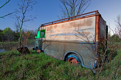 Bread-less Butternut Truck (Nocturnal Kansas) Tags: longexposure nightphotography lightpainting abandoned night truck rust rusty fullmoon kansas peelingpaint derelict outofservice paintwithlight nocturnes mattefinish noshine