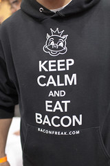 """Keep Calm and Eat Bacon"" (froboy) Tags: food chicago bacon illinois pork baconfest"