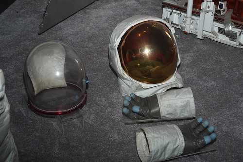 Helmets and Gloves for Moon Walking