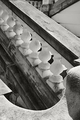 Stair Design (frntprchprss) Tags: blackandwhite stairs concrete design massachusetts rail berkshires banister lenox themount jamesgehrt