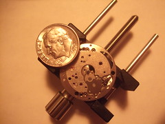 DSCF4289 (bigjohnf1) Tags: macro stem mechanical small watch hobby automatic crown wrist gears making jewel 1965 bulova