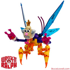 King Candy Cy-Bug (bruceywan) Tags: game alan bug movie video king candy lego it videogame wreck villain ralph photostream moc tudyk cybug wreckitralph brucelowellcom