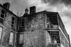 Broomhill Hospital, 16/05/13 (David Warden) Tags: blackandwhite bw abandoned monochrome scotland rusty dirty urbanexploration disused derelict broomhill kirkintilloch broomhillhospital