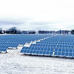 Solarpark im Winter