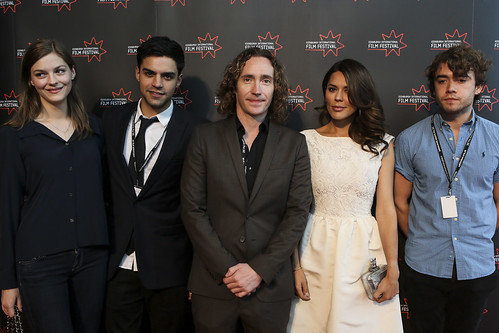 Amber Anderson, Sean Teele, Justin Edgar, Danielle Bux and Jamie Blackley at the We Are The Freaks photocall