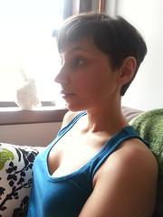Allie (allie) Tags: haircut self pixie short shorthair