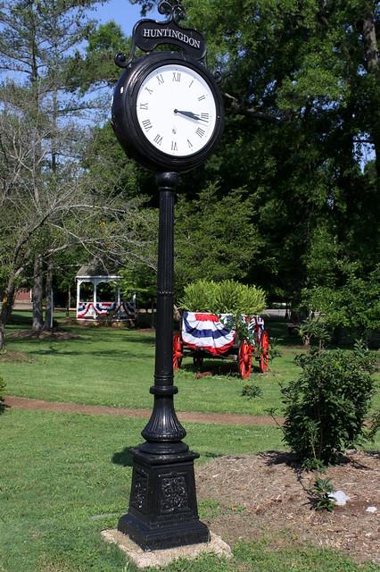 Scenes from Thomas Park: Clock - Huntingdon, TN