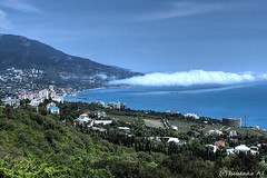 Yalta. Crimea (ArwenDn) Tags: sea mountain nature clouds landscape crimea yalta blacksea