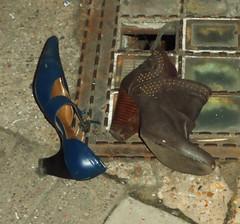 Shoe & Boot (teaselbrush) Tags: road city uk sea england urban london lost boot shoe sussex coast town seaside junk shoes brighton hove east coastal rubbish abandonded british detritus waste
