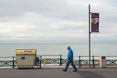 On Brighton Seafront (grahambrown1965) Tags: sea man water pentax bin walker seafront bins 1650mm smcpentaxda1650mmf28edalifsdm pentaxk5iis k5iis