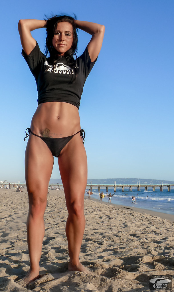 Fit muscular brunette can039t keep her hands off herself 5