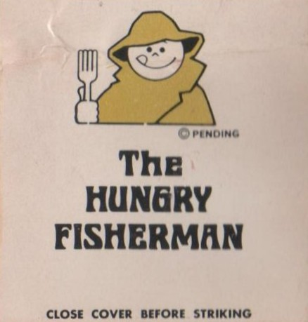 Hungry Fisherman (matchbook detail, front cover)