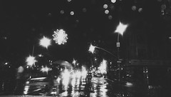 (Linh H. Nguyen) Tags: street newyork reflection rain night chinatown bokeh flickrandroidapp:filter=none htcone itsfinallychristmas