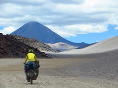 Cycling to Volcan Peinado