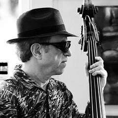 Bass Man, Plate 2 (Thomas Hawk) Tags: sanfrancisco california bw usa unitedstates bass unitedstatesofamerica livemusic pier23