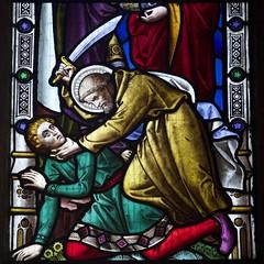 red tights spells danger (peet-astn) Tags: red church window glass danger tights spells stpeterandstpaul kingssutton