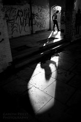 Give me strength (Gareth Priest) Tags: uk morning light shadow portrait bw sunlight inspiration