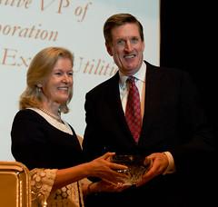 Receiving the Taoiseach Award